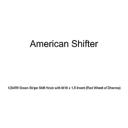 American Shifter 136697 Stripe Shift Knob with M16 x 1.5 Insert Blue Shift Pattern 27n