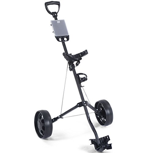 MD Group Golf Cart Holder Trolley Foldable 2 Wheels Push Pull Foldable Design Lightweight Equipment by MD Group (Image #1)