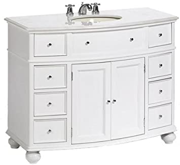 Amazon Com Home Decorators Collection Hampton Bay Curved Bath Vanity 35 Hx45 Wx22 D White Home Kitchen