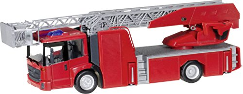 HERPA 13017 Mercedes-Benz Econic Turnable Ladder Truck Mini Kit, Red