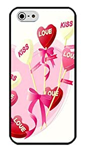 iPhone 5S Case, I Love You Balloons And Hearts Slim Grip TPU Bumper with Soft Plastic Back Case For iPhone 5S And iPhone 5