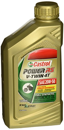 Castrol Power RS V-Twin 20W-50 Full Synthetic 4-Stroke Motorcycle Oil (06080)