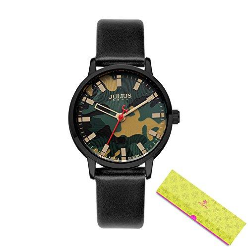 ce6c9012a51 Buy Julius Montre Stainless Steel Back Water Resistant Japan Quartz Movt  Women s Wrist Watch Simple Retro Military Camo Horlog Hour Ja-923 Black  Online at ...