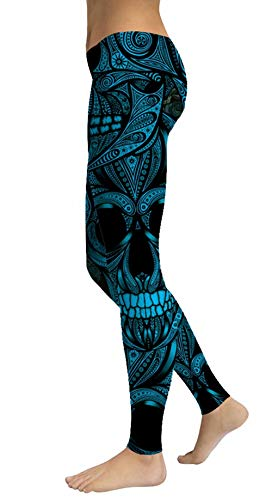 Women's Sugar Skull Printed Leggings Ankle Length Tights Capris Pants for $<!--$14.99-->