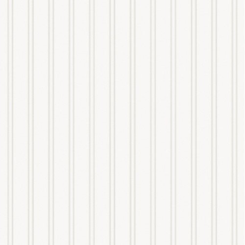 New Paintable Prepasted Beadboard Stripes Texture Wallpaper PVC Pasted