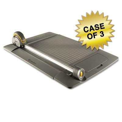 Westcott TrimAir Rotary Metal Base Trimmer, 15 sheets, Metal, 24 x 9, Case of 3