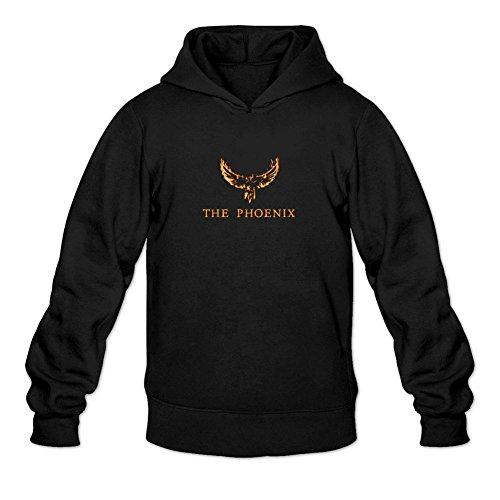 TIANRUN Men's Phoenix Rock Band Logo Hooded Sweatshirt Size L