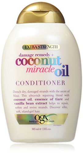 Shampoo Coconut Oil (OGX Extra Strength Damage Remedy, Coconut Miracle Oil Conditioner, 13 oz.)