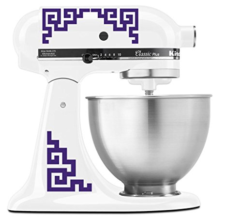 Japanese Traditional Medallion Pattern - Vinyl Decal Set for Kitchen Mixers - Purple (Asian Decal Set)