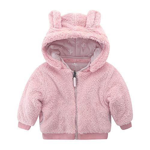 Mud Kingdom Baby Girls Fleece Coat Reversible Cute Hood Ear Warm Pink 18-24 Months