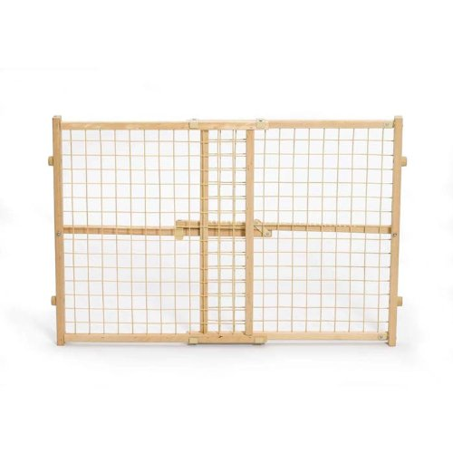 MidWest Wire Mesh Pet Gate, 26 Inches to 41 Inches wide by 24 Inches - Wire Mesh Gate Safety
