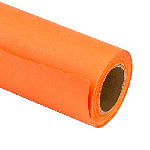 RUSPEPA Orange Kraft Wrapping Paper - 81.5 Sq Ft Heavyweight Paper for Wedding,Birthday, Shower, Congrats, and Holiday Gifts - 30Inch X 32.8Feet Per -
