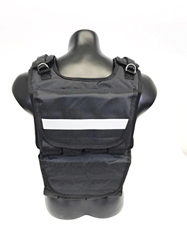 Go Team Weighted Vest for Men Cross fit Training Exercise Jogging Fitness Workouts (40 lbs/60 lbs)