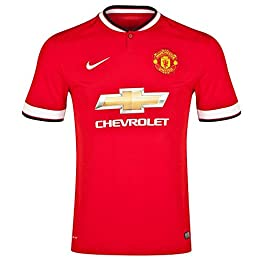 Nike Manu Home Stadium T-Shirt à manches courtes Homme Diablo Red/Football White/Football