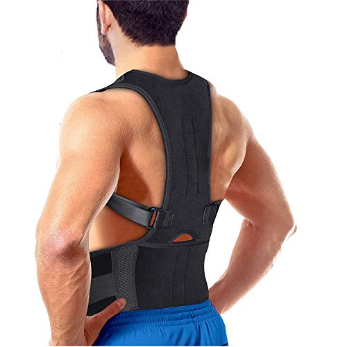 Comezy Back Brace Posture Corrector for men women丨Effective Relieve Pain丨 Fully Adjustable Trainer Back Brace丨Improves Posture and Provides Lumbar Support Brace丨Lower and Upper Back Brace (34-42)