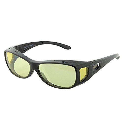 Duco Optiks Ergonomic Advanced Computer Gaming Wear Over Prescription Glasses Anti Blue Light Wraparound Eyewear 8953L