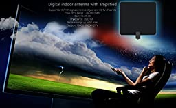 EnergyPal Indoor HDTV Antenna With 35 Mile Range and 10ft Coax Cable