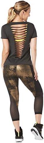 Zumba Fitness damska koszulka sportowa, seksowna, z otwartym tyłem, oddychająca, modna: Odzież