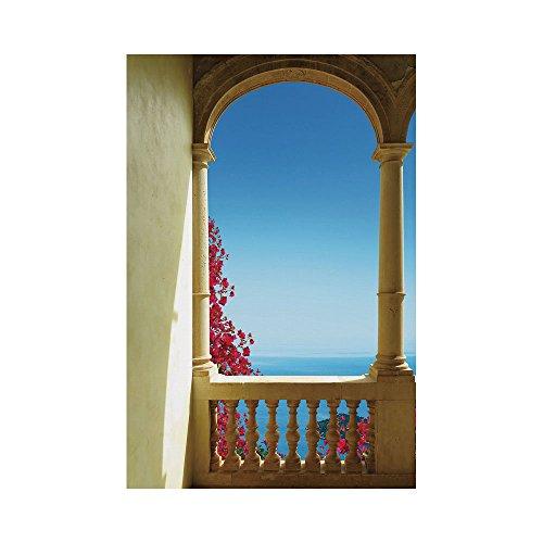 Cheap  Polyester Garden Flag Outdoor Flag House Flag Banner,Patio Decor,Ancient Balcony with View..