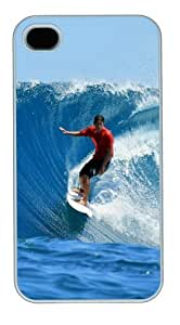 iphone 4 case unique Surf 02 PC White for Apple iPhone 4/4S