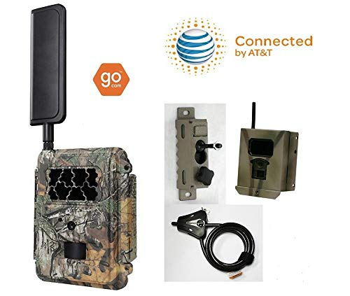 Spartan at&T 4G LTE GoCam Deluxe Package 720P Wireless Trail Camera Blackout IR (Camera, Lock Box, Cable, Swivel Mount)