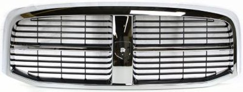 CPP Chrome Shell w/ Black Insert Grille Assembly for Dodge Ram CH1200282