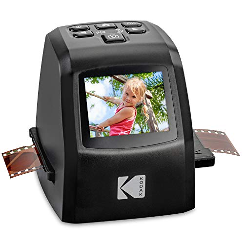 KODAK Mini Digital Film & Slide Scanner - Converts 35mm, 126, 110, Super 8 & 8mm Film Negatives & Slides to 22 Megapixel JPEG Images - Includes - 2.4 LCD Screen - Easy Load Film Adapters ()