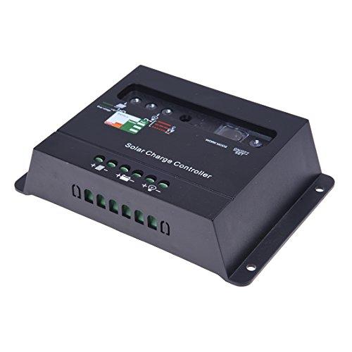 SODIAL(R) Solar Panel Charge Controller Regulator 20A 12V 24V Black
