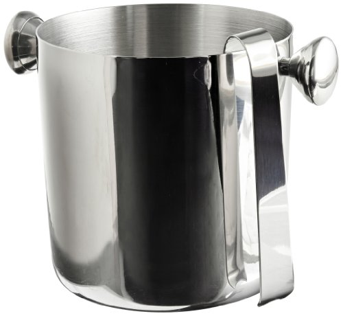 Carlisle 609191 Stainless Steel 18-8 Ice Bucket with Handles and Tong, 1.7-qt. Capacity, 5.5