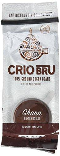 Crio Bru Ghana French Roast Organic Herbal Tea Coffee Alternative Substitute 99% Caffeine Free Whole-30 Gluten Free Honest Low Calorie Energy Boost (10oz)