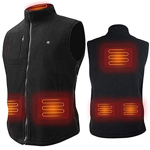 S-XXXL ARRIS Heated Vest Size Adjustable 7.4V Battery Electric Warm Vest for Hiking Camping Gilet Fleece