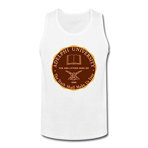Oryxs Men's Adelphi University Garden City1 Vest   Singlet XXXL White ()