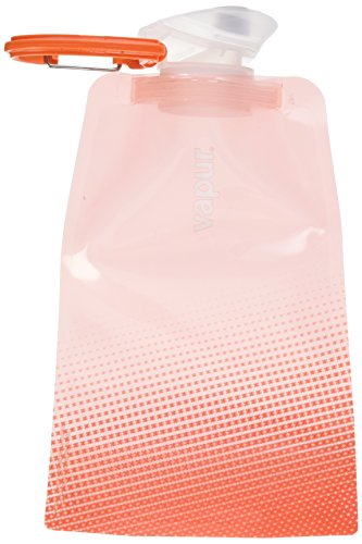 Vapur - Shades 0.5L BPA Free Foldable Flexible Water Bottle w/Carabiner (Rose Quartz)
