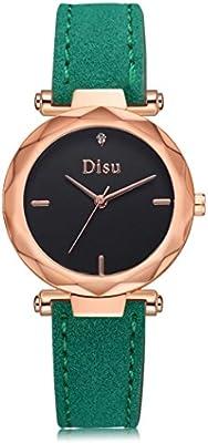 7ede2caedb Relojes dellin Mode Mujer Retro Diseño Piel de banda de aleación de cuarzo  analógico reloj de pulsera. Cargando imágenes.