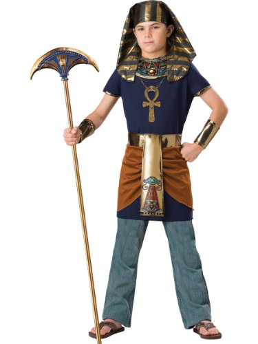InCharacter Costumes Boy's Pharaoh Costume, Blue/Gold, 12 -