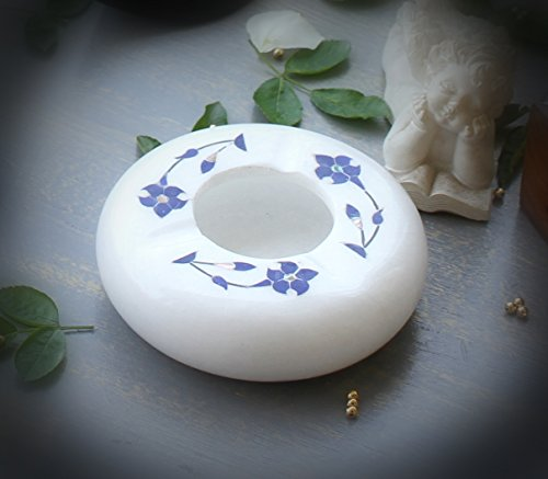 Pietra Accents - SouvNear White Marble Ashtray - 4