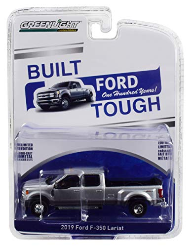 2019 Ford F-350 Lariat 4x4 Super Duty Pickup Truck Silver Ford Trucks 100 Years Anniversary Collection 1/64 Diecast Car by Greenlight 27970 F from Greenlight