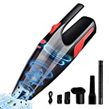 Cordless Vacuum Car Vacuum Cleaner,WOHOME Handheld Vacuum Powerful Li-ion Battery Quick Charge Wet Dry Vacuum Cleaner for Home/Pet/Hair/Dust/Car