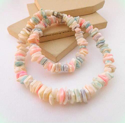 Pastel Multi-Color Puka Shell Bead 16
