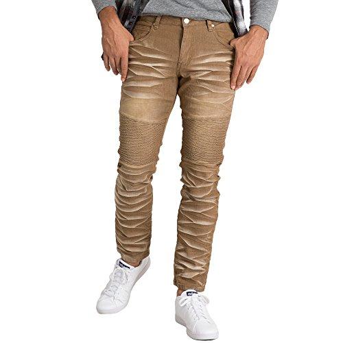 5 Pocket Leather Jeans - 6