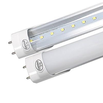 (US STOCK) 3FT T8 LED Light Tube, CNSUNWAY Lighting 14W (30W Fluorescent Replacement), 6000K (Super Bright White), Single Row 2 Pin G13 Bulbs (25-Pack)