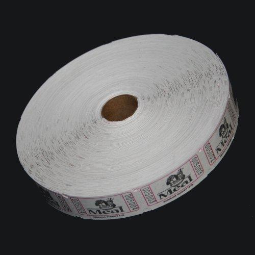 Novelty Single - MUNCIE NOVELTY COMPANY White Meal Ticket Roll