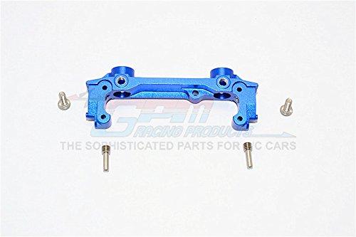 GPM Axial SCX10 II Upgrade Parts (AX90046, AX90047, AXI90075) Aluminum Front Bumper Mount - 1Pc Set Blue