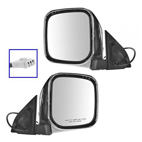 Mirrors Side Power Chrome Left & Right Pair Set for Mitsubishi Montero Sport Mitsubishi Montero Set