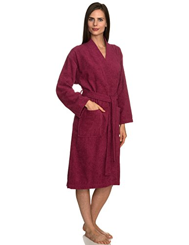TowelSelections Women's Robe Turkish Cotton Terry Kimono Bathrobe X-Large/XX-Large Malaga