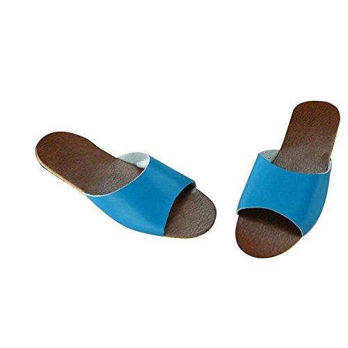 TELLW Bleu Femme Pour Chaussons Pour Bleu TELLW Femme TELLW Chaussons CC7aqFw