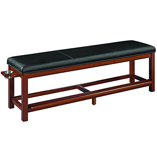 (RAM Gameroom Spectator Storage Bench - Chestnut)