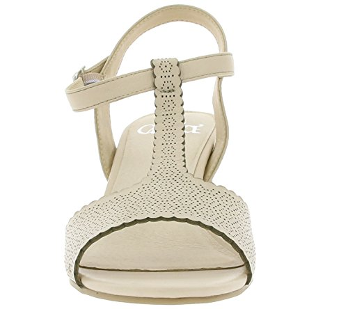 Caprice Mujeres Space Sandalias Informales Beige Nappa