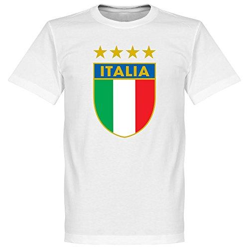 Italien Crest T-Shirt - weiß