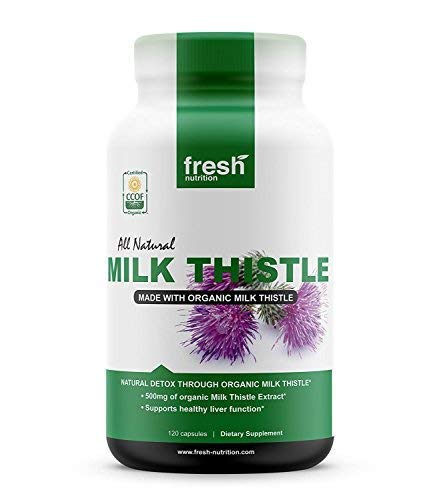 Milk Thistle Organic - 120 Servings of 2000mg - Strong – 4 Month Supply – CCOF Organic - Silymarin Thisilyn Seed Standardized Extract 4:1 Capsules - Best for Liver Cleanse - USA